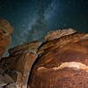 Rochester Creek Petroglyph panel and the Milky Way Galaxy, Molen Reef, San Rafael Swell, Emery County, Utah (2)