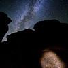 Rochester Creek Petroglyph panel and the Milky Way Galaxy, Molen Reef, San Rafael Swell, Emery County, Utah
