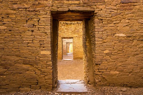 Doors in Pueblo Bonito interior, Chaco Canyonal National Historical Park, San Juan County, New Mexico
