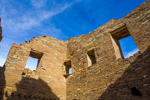 Pueblo Bonito windows, Chaco Canyonal National Historical Park, San Juan County, New Mexico