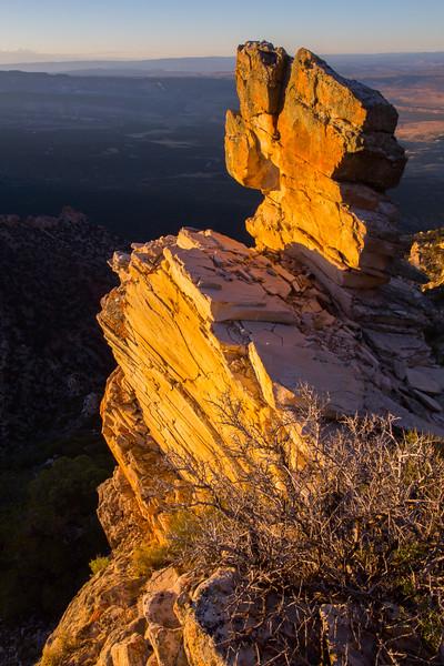 Overlook with Snake John Reef in the background, Uintah County, Utah