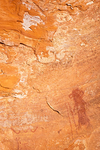 Alcove pictographs, Desert Archaic, Escalante / Grand Staircase National Monument, Garfield County, Utah