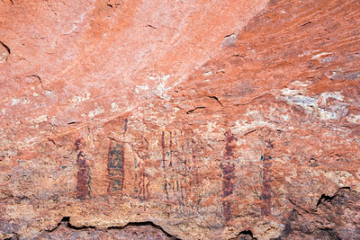 Polychromatic abstract pictographs, Desert Archaic, Escalante / Grand Staircase National Monument, Garfield County, Utah (7)