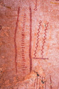 Polychromatic abstract pictographs, Desert Archaic, Escalante / Grand Staircase National Monument, Garfield County, Utah (8)