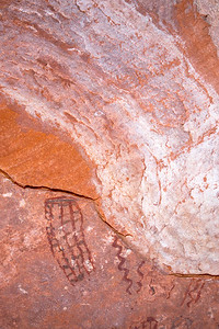 Polychromatic abstract pictographs, Desert Archaic, Escalante / Grand Staircase National Monument, Garfield County, Utah (9)
