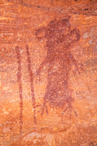 Alcove pictographs, Desert Archaic, Escalante / Grand Staircase National Monument, Garfield County, Utah (2)