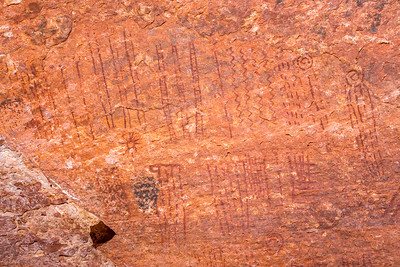 Alcove pictographs, Desert Archaic, Escalante / Grand Staircase National Monument, Garfield County, Utah (3)