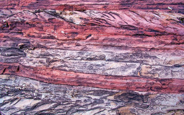 Cedar Mesa Sandstone red and white banding, Big Spring Canyon, Canyonlands National Park, San Juan County, Utah