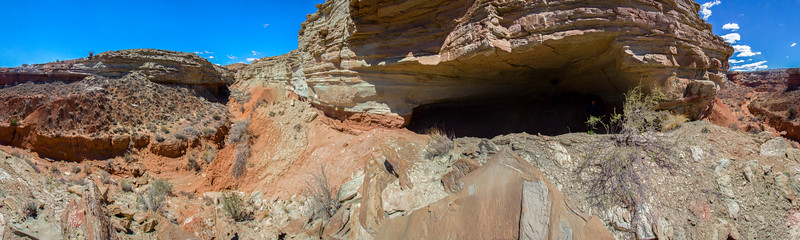 Clyde's Cavern 360 Panorama, Molen Reef, Utah