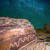 Large serpent petroglyph under the Milky Way Galaxy, Fremont, Molen Reef, Utah
