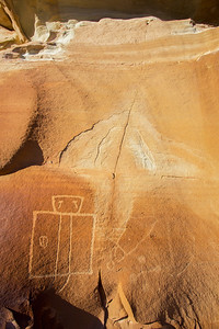 Human figure with tears, Fremont-era petroglyph, Molen Reef, Utah (2)