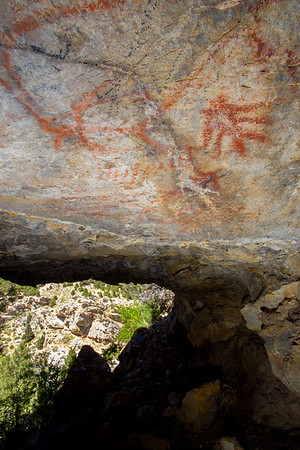 Fremont cavern pictographs, Nevada