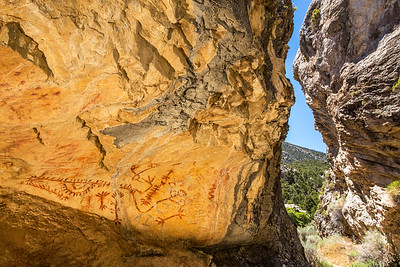 Pictographs, White Pine County, Nevada