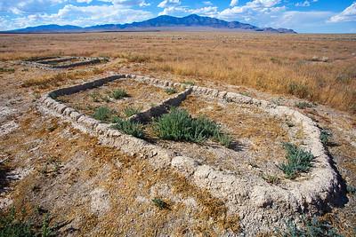 Baker Village Archaeological Site (modern walls), Fremont, White Pine County, Nevada (2)