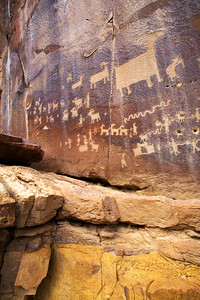 Fremont petroglyph panel, Nine Mile Canyon, Utah