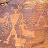 Fremont petroglyphs with anthropomorphs and bighorn sheep, Nine Mile Canyon, Utah