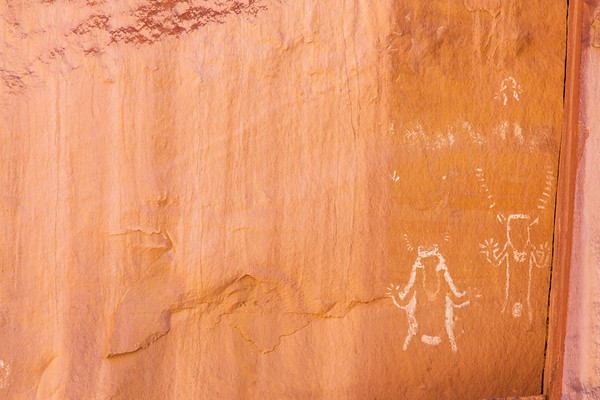 Negative anthropomorphic figures, Fremont, Nine Mile Canyon, Utah