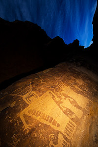 """The Family Petroglyph Panel"", Fremont, Nine Mile Canyon, Utah"