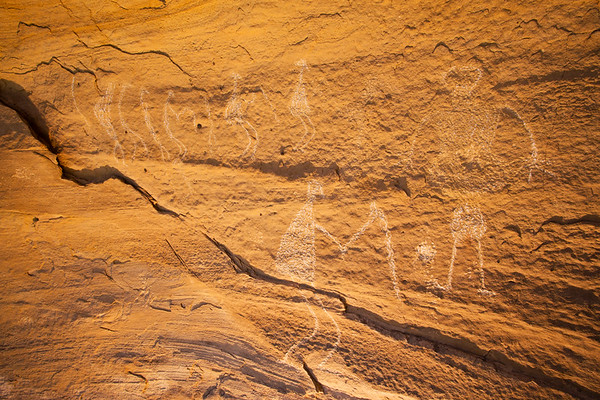 Fremont anthropomorphic petroglyphs, Nine Mile Canyon, Utah