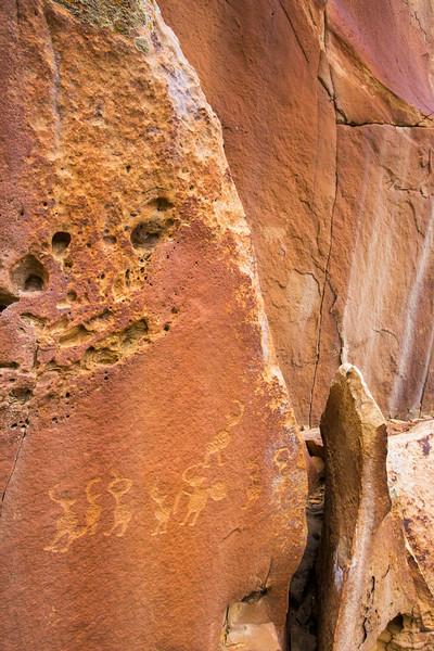 Fremont petroglyph panel, Nine Mile Canyon, Utah (2)