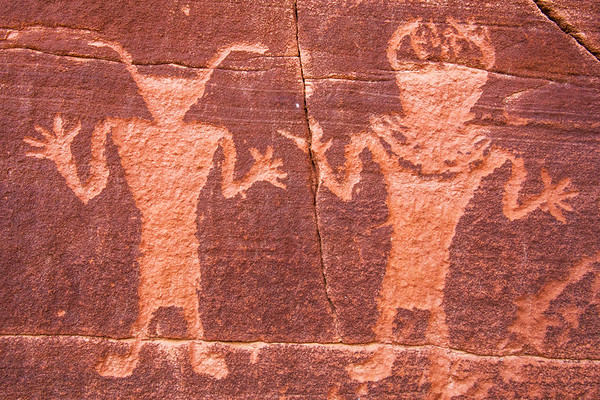 Two Fremont anthropomorphic figures, Nine Mile Canyon, Utah