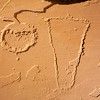 Petroglyphs on alcove floor, Fremont, Nine Mile Canyon, Utah