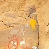 Polychrome pictographs, Ute, Nine Mile Canyon, Utah