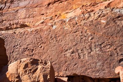 Poison Spider dinosaur tracks, Kayenta Formation, Moab area, Grand County, Utah