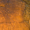 Several eras of petroglyphs, Desert Archaic, San Rafael Swell, Emery County, Utah
