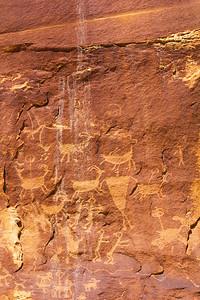 Basketmaker hunting scene petroglyphs, Utah