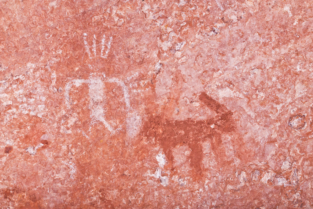Cave Valley Style pictographs, Ancestral Puebloan, Kane County, Utah