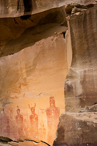 Barrier Canyon Style anthropomorph pictographs, Thompson Springs Canyon, Grand County, Utah