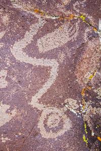 Virgin Ancestral Puebloan petroglyph boulder, Utah (2)