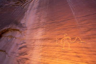 Fremont anthropomorph petroglyph, Utah