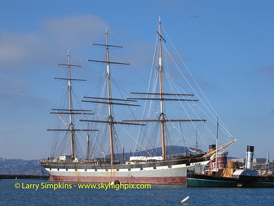 Clipper ship, Balclutha, San Francisco, CA. November 2008. Image# 005
