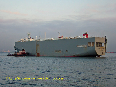 "Car Carrier ""Marble Highway"" New York Harbour, October 2006."