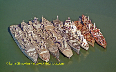 "The ""Ghost Fleet"", Newport News, Virginia, November 2001. Image # 05"