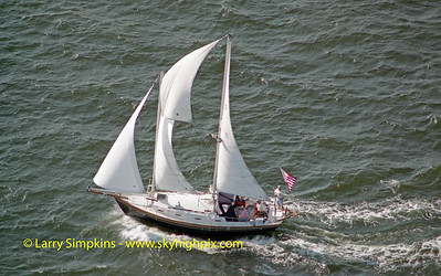 """Ann Elizabeth"" Great Chesapeake Bay Schooner Race, October 2000. Image# 1185"