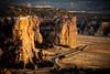 Last Light On The Cliff Walls Of El Malpais - El Malpais National Monument, Grants, New Mexico