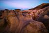 Moon Breaking The Horizon -  Bisti/De-Na-Zin Wilderness, New Mexico