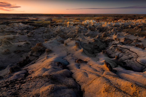 Rim Light On The Cracks Of History -  Bisti/De-Na-Zin Wilderness, New Mexico