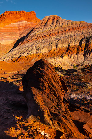 Strange Rock Formations Beneath The Hills - Paria Ghost Town, Painted Hills, Grand Staircase-Escalante National Monument, Utah