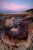 Circle Crops Under The Twilight Sky -  Bisti/De-Na-Zin Wilderness, New Mexico