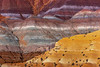 Overlapping Layers Of Colors and Gold - Paria Ghost Town, Painted Hills, Grand Staircase-Escalante National Monument, Utah