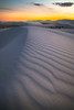 The Afterglow Of The Sunset Evening On The Dunes - White Sands National Monument, New Mexico
