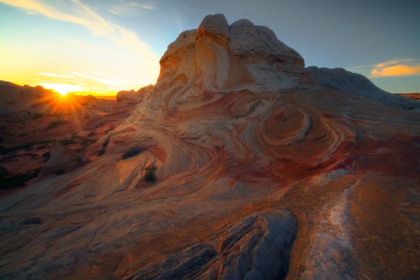 Last Light Shines On White Pockets - White Pockets, Vermillion Cliffs National Monument, Arizona