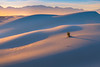 Last Light Of The Golden Light On The Dunes - White Sands National Monument, New Mexico