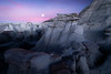 Hoodoos Under The Cover Of The Moon -  Bisti/De-Na-Zin Wilderness, New Mexico