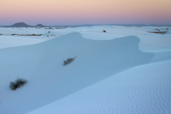 White Moments Of Twilight - White Sands National Monument, New Mexico