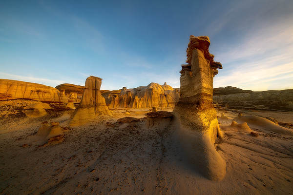 Pillars Of History -  Bisti/De-Na-Zin Wilderness, New Mexico